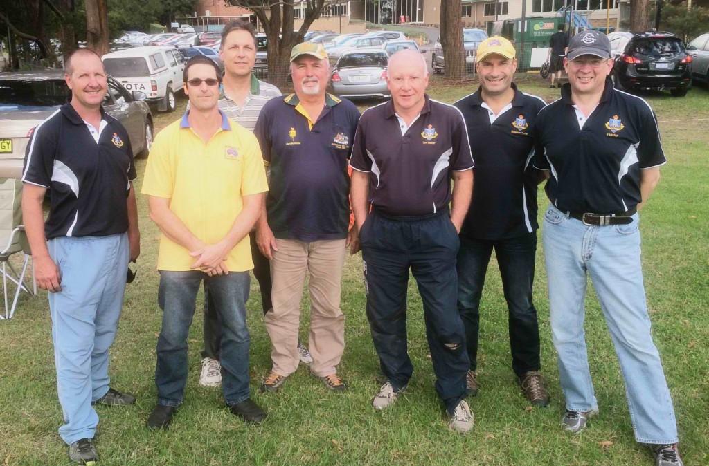 Team No1, left-to-rigth: R. Trodden, P. Hodder, D. Kazakov, M. Buchanan, T. Walter., S. Tofler., I. Hutchinson