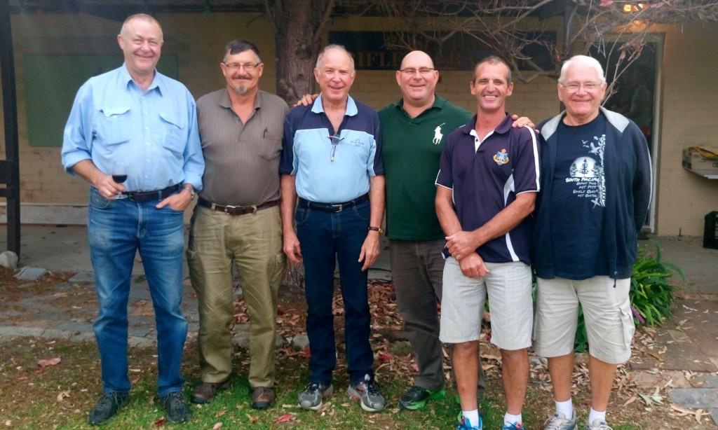 F-class Team (left-to-rigth): Graham Coote, Allan Humbert, Ian Palmer, Mike Cuda, Gary Faulkner, Robert Kozminski